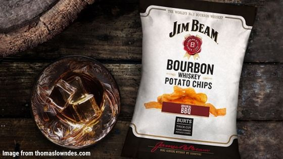 Jim Beam Bourbon Whiskey Original BBQ Potato Chips